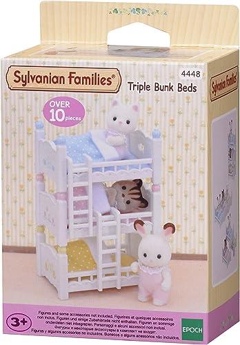 Sylvanian Families - Le Village - Les Lits Superposés A 3 Couchettes Bébés - 4448 - Meubles et Accessoires Poupée - M...