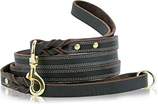 8 foot leather dog leash
