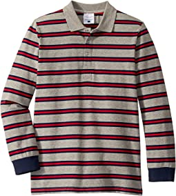 Grey/Navy/Red Striped