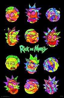 Trends International Rick and Morty - Vaporwave Wall Poster, 22.375