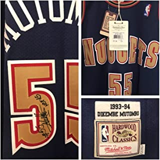 Dikembe Mutombo Autographed Signed Nuggets Authentic Jersey Beckett Authentic Loa