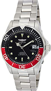 Invicta Pro Diver Men's Black Dial Stainless Steel Band Automatic Watch - Invicta-9403, Analog Display, Automatic, 24 Jewe...