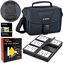 Canon 200ES Camera Shoulder Bag (9320A023) for Canon EOS Rebel T6 T7 T5i T6i T7i EOS 90D 80D 70D 6D EOS Sl3 sl2 M50. Bundle Includes, 58mm Lens Cap, 5-Piece Cleaning Kit, Screen Protectors