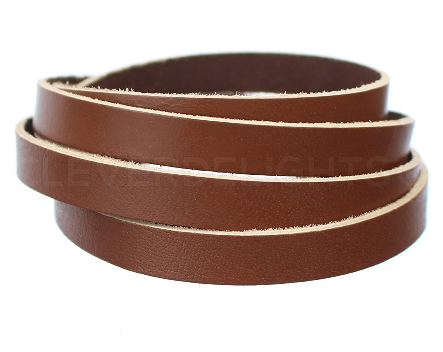 CleverDelights Premium Cowhide Leather Strap - 1/2