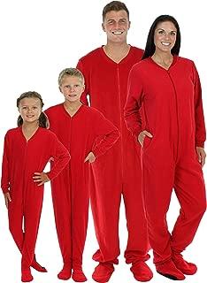 adult red one piece pajamas