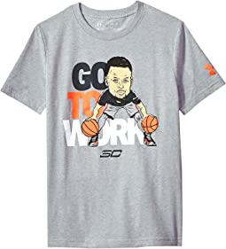 Steph Curry30 Go To Work Short Sleeve Tee (Big Kids)