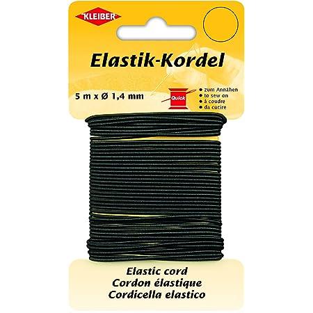 Kleiber 5m Rund-Elastik Soft 3mm weiches Hutgummi schwarz Gummikordel zb Gummi