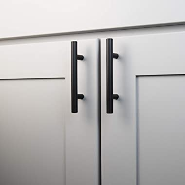 Basics Collection Bar Pull 3 Inch Center to Center Matte Black Finish (10-Pack)