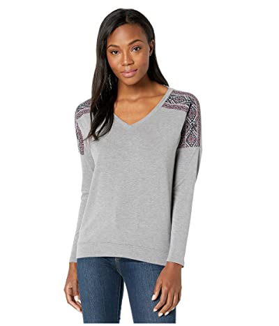 Life is Good Supreme Team Wide Vee Pullover (Dark Heather Gray) Women