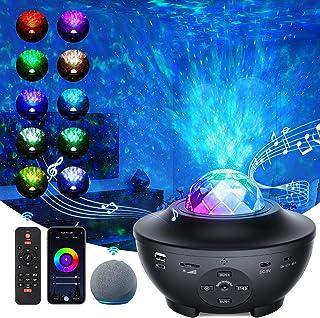 「2021最新WIFIスマート版」スタープロジェクターライト プラネタリウム 部屋用 ベッドサイドランプ APP/Alexa/Google homeで制御 2in1投影効果 21種ライト効果 一台二役 音楽再生機能 タイマー機能付き 音声制御 ...