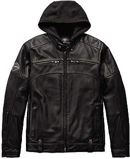 Men's Swingarm 3-in-1 Leather Jacket, Black