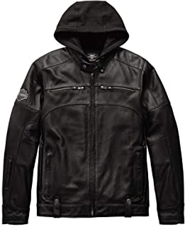 HARLEY-DAVIDSON Men's Swingarm 3-in-1 Leather Jacket, Black