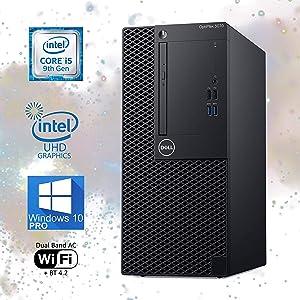 Dell Optiplex 3070 Mini-Tower Computer, Intel Core i5-9500 Upto 4.40 GHz, 16GB RAM, 1TB M.2 NVMe SSD, Wi-Fi, Bluetooth, DisplayPort, HDMI, DVD-RW - Windows 10 Pro (Renewed)