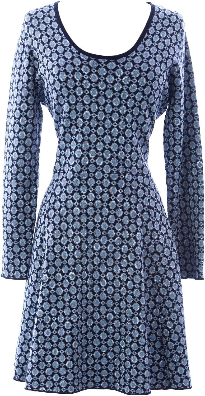 BODEN Women's Glamgoldus Knitted Dress US Sz 10P bluee Silver