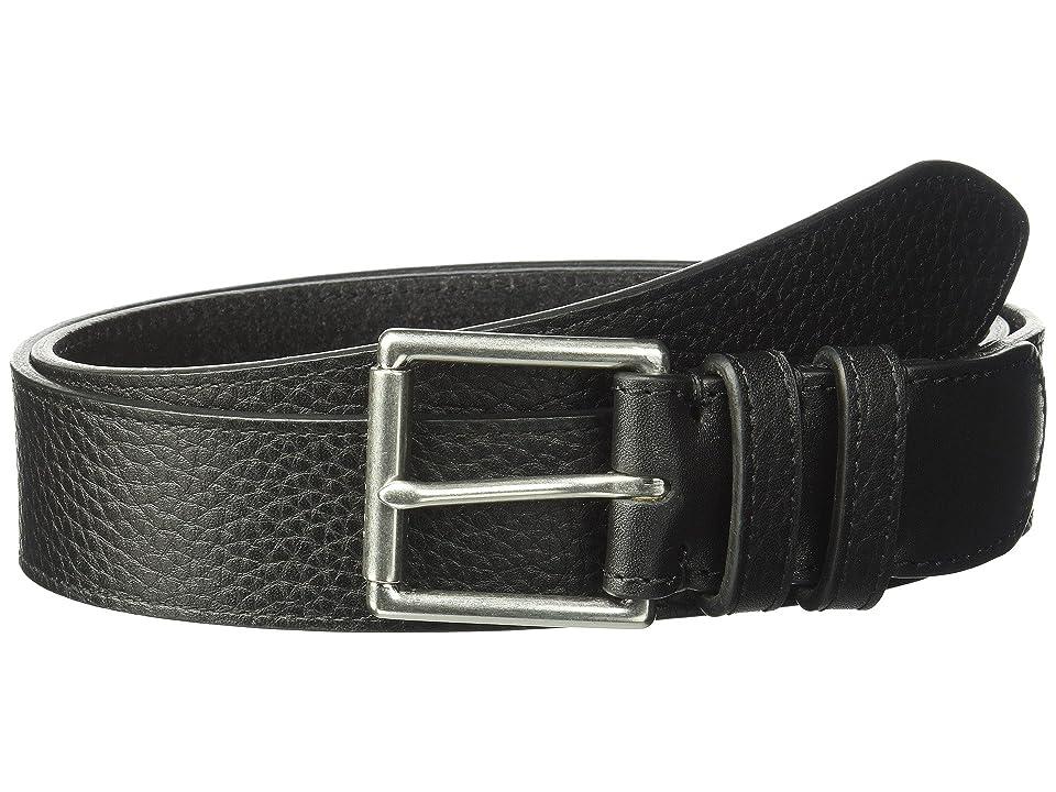 Cole Haan 35mm Pebble Strap Belt w/ Double Loops (Black) Men
