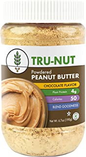 Tru-Nut Powdered Peanut Butter, Chocolate, 6.7 Ounce