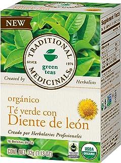 Traditional Medicinals, Te Verde Orgánico Con Diente De León, 32 Gr., 16 Bolsitas De Té