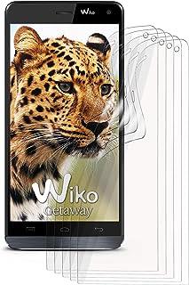 MoEx klar skyddsfolie för Wiko Getaway, 5 x Stück, transparent