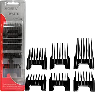 Wahl Professional Detachable Clipper Cutting Guide Set #41881-7430 – Fits Wahl Professional Chromstyle Pro Clipper, Sterling Big Mag, and Sterling Li+Pro – Set of 6