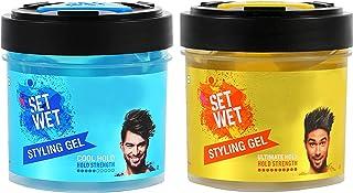 Set Wet Hair Gel Ultimate Hold, 250ml & Set Wet Cool Hold Strength Hair Gel, 250 ml