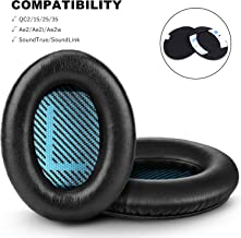 Bose QC25 QC15 Headphones Replacement Ear Pads Cushion by GEVO,Memory Foam Pads and 2 Pairs Inner Mats Enhance Noise Isolation -Also Fit for QC2/QC35/Ae2/Ae2i/ Ae2w/SoundLink/SoundTrue (Over-Ear