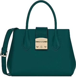 Furla Metropolis Ladies Small Green Cipresso Leather Tote 978093