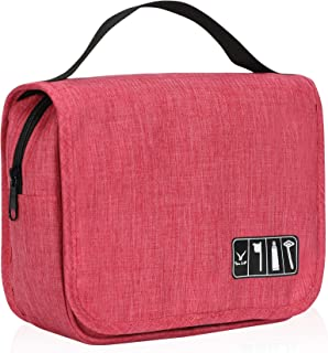 Hynes Eagle Hanging Toiletry Bag Water Resistant Travel Accessories Organizer Pounch with Hook Red
