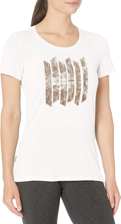 Max 83% OFF Icebreaker Merino Women's Tech Lite Graphi Low Sleeve Neck Sales for sale Short