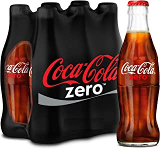 Coca-Cola Zero Carbonated Soft Drink, Glass Bottle -290 ML (Pack of 6)
