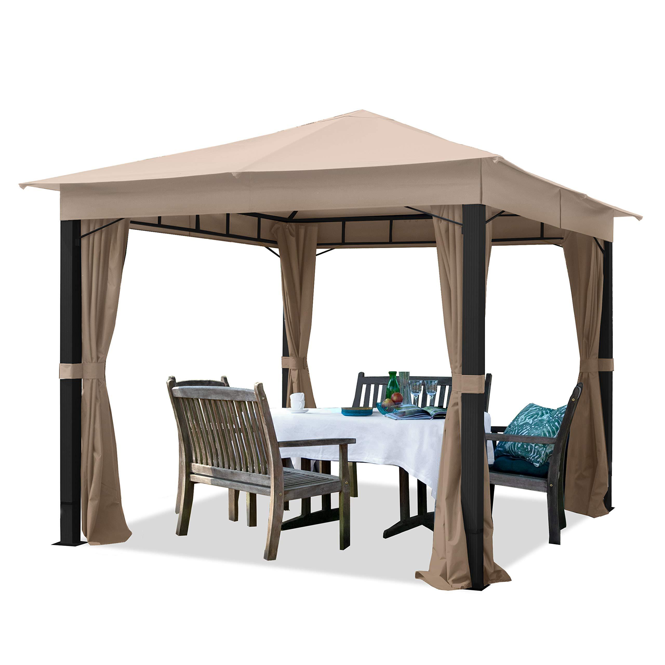 TOOLPORT Cenador de jardín 3x3m ALU Premium 280g/m² Lona de Techo ...