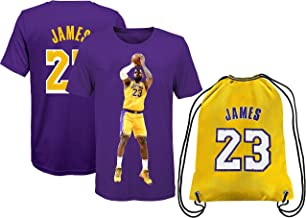 Lebron Jersey James Away T-Shirt Kids Basketball Gift Set Youth Sizes Bonus Basketball Gift
