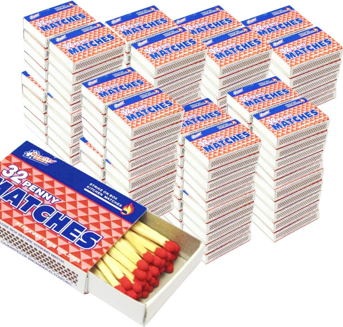 1000 価格交渉OK送料無料 蔵 Packs Matches 32 Count Strike Kitchen W Fire Box Camping on