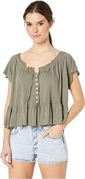 6eda28a00f87 Free People Knot Me Tee at Zappos.com