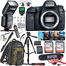 $1234 » Canon EOS 6D Mark II DSLR Camera (Body Only) Bundle Includes 2X 128GB Memory, TTL Auto Flash, Canon Backpack, Rode Microphone, Time Remote with LCD, Photo/Video Software Package & More (Renewed)