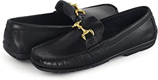 Men's Black Leather Loafer Shoes | Premium Slip-On Shoes for Business Dress or Everyday Casual Wear | Mens Footwear Made from High-End Mexico Leather That's Designed to Last