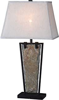 Kenroy Home 32227SL Free Fall Lamps, 30 Inch Height, 12 Inch Length, 16 Inch Width, Natural Slate Finish