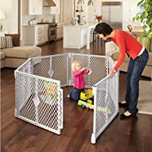 North States Superyard Indoor-Outdoor 6-Panel Play Yard: Safe play area anywhere - Folds up with carrying strap for easy travel. Freestanding. 18.5 sq. ft. enclosure (26