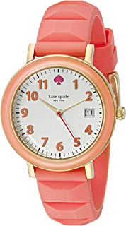 kate spade new york Women's 1YRU0805 Metro Watch with Pink Silicone Band