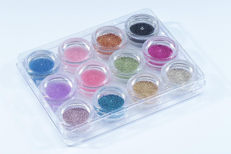 平野ゴミに対応する【ブリオン12個缶セット】ミニビーズの人気カラーのセット