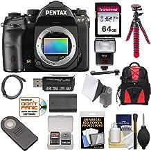 Pentax K-1 Mark II Full Frame Wi-Fi Digital SLR Camera Body with 64GB Card + Battery + Flash + Backpack + Tripod + Kit