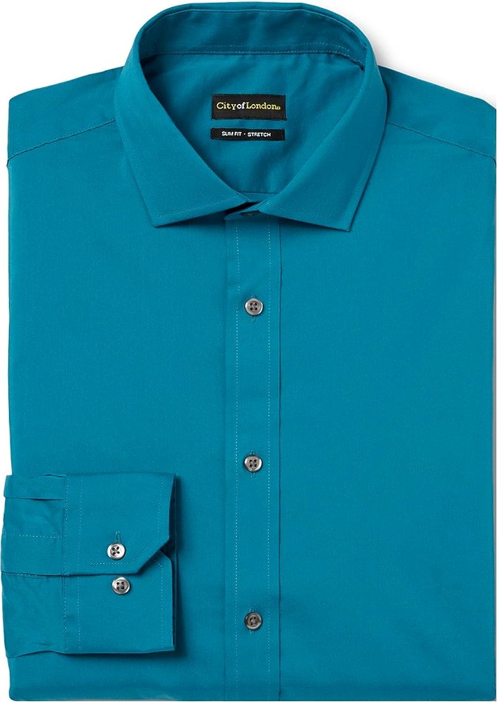 City of London Men's Slim Fit Premium Non-Iron Dress Shirt