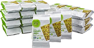 Sponsored Ad - Wickedly Prime Organic Roasted Seaweed Snacks, Wasabi Style, 0.17 Ounce (Pack of 24)
