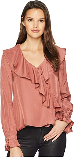 Unbalanced Ruffle Top