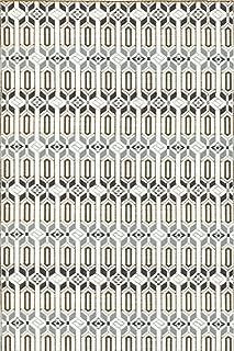 Mad Mats Moroccan Indoor/Outdoor Floor Mat, 4 by 6-Feet, Cool Silver