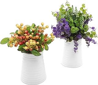 Best short white vases Reviews