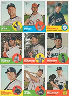 2012 Topps Heritage MLB Baseball Series Complete Mint 425 Card Set in 1963 design with Mike Trout