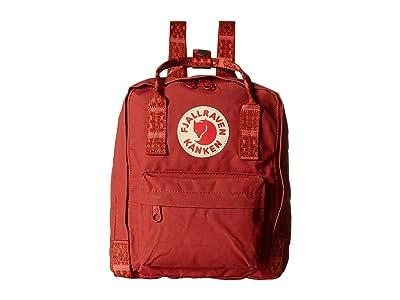 Fjallraven Kanken Mini (Deep Red/Folk Pattern) Backpack Bags