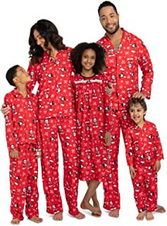 Mickey Mouse Christmas Holiday Family Sleepwear Pajamas Dad Mom Kid Baby