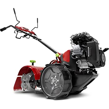 EARTHQUAKE 37037 Pioneer Dual-Direction Rear Tine Tiller, Red/Black