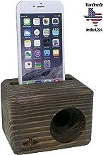 Morph Speakers Wood iPhone and Galaxy Wooden Phone Sound Amplifier Holder Amplifier Phone Desktop Decoration, Phone Dock & Wood Speaker